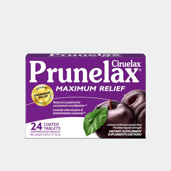 Prunelax Ciruelax Maximun Relief 24 Tabs Caja 01
